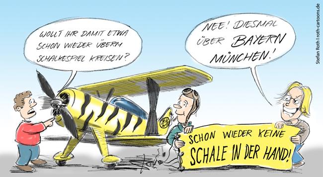 Der Bvb Flieger Uber Bayern Munchen Freitags Witze