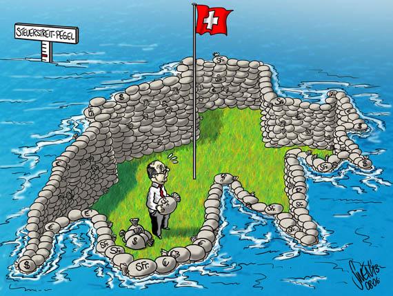 Steuerstreit Pegel der Flut