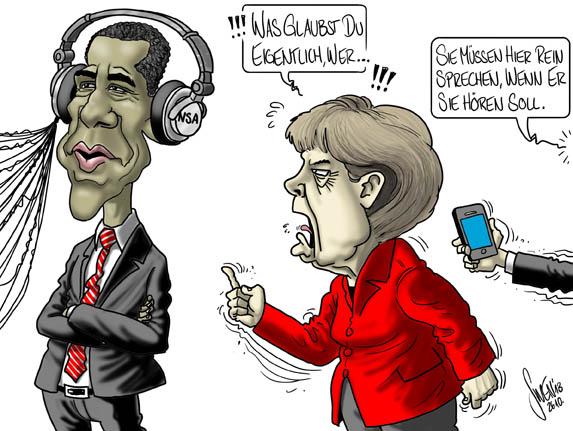 NSA - Merkel - Abhörskandal