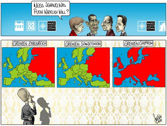 Putin Grenzen Russlands und Gazprom
