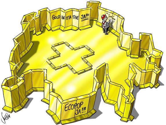 Ecopop- und Goldinitiative