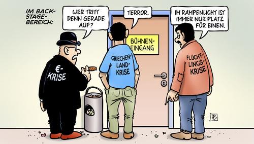 EU-Krise, Griechenland-Krise, Flüchtlings-Krise & Terror