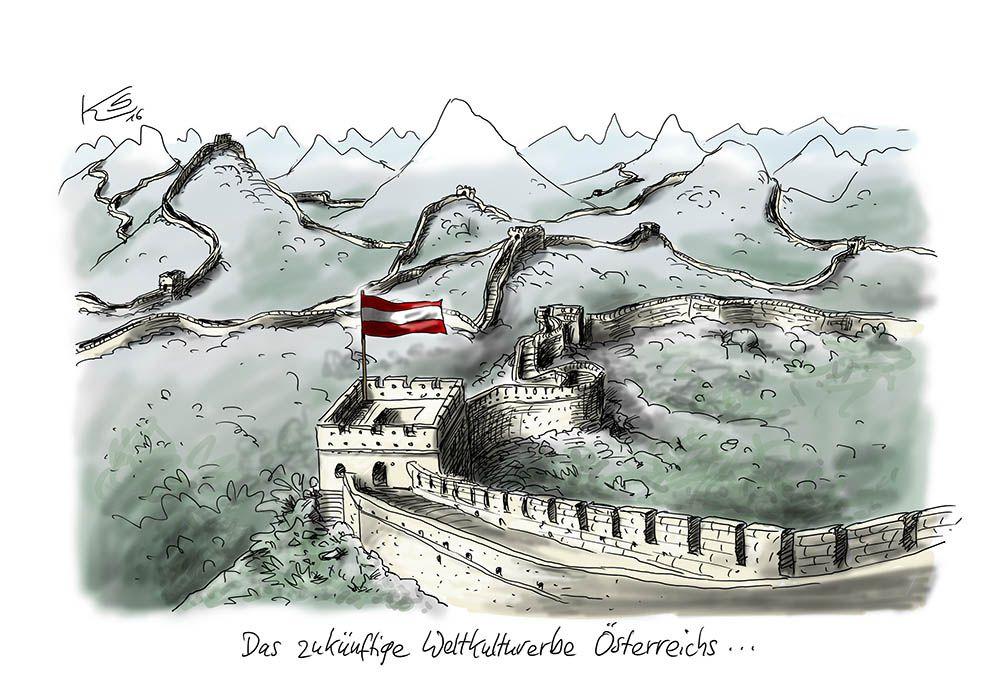Österreich macht die Grenzen dicht