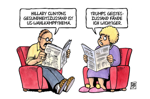 Clinton & Trump: Gesundheit im Wahlkampf