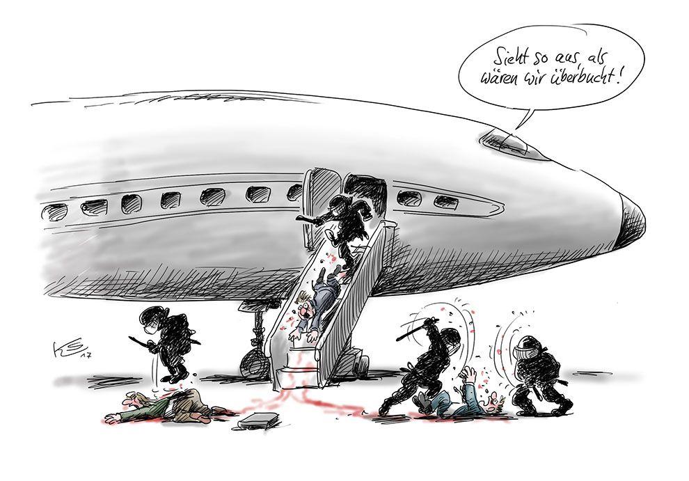 United Airlines; Flug überbucht