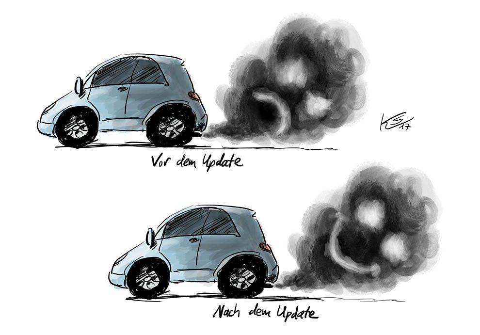 Software-Update für Dieselfahrzeuge