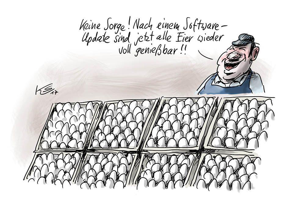 Software-Update bei den Eiern