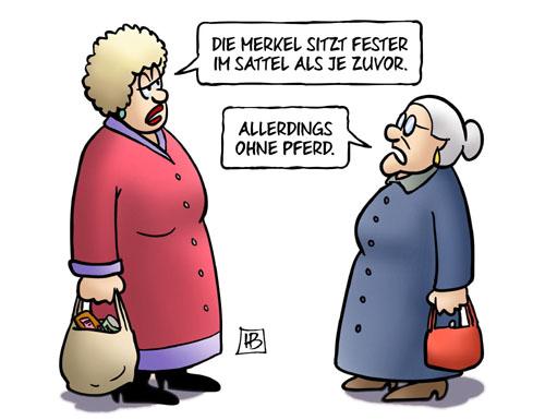 Angela Merkel: Fest im Sattel