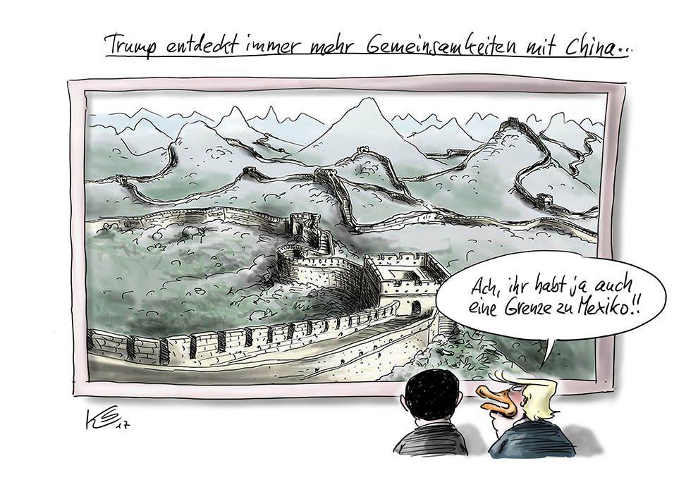 Trump und China haben eine Grenze zu Mexiko