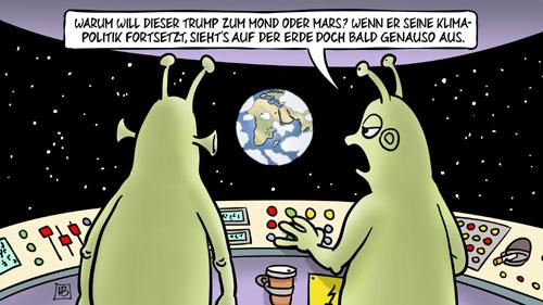 Trump will auf den Mond und auf den Mars
