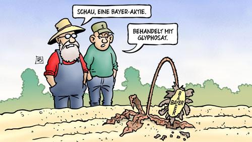 Bayer-Aktie: Behandelt mit Glyphosat