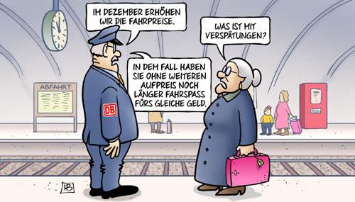 Deutsche Bahn: Preiserhöhungen