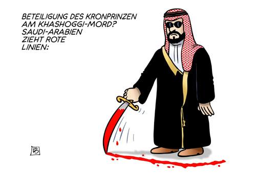 Saudi Arabien zieht eine rote Linie