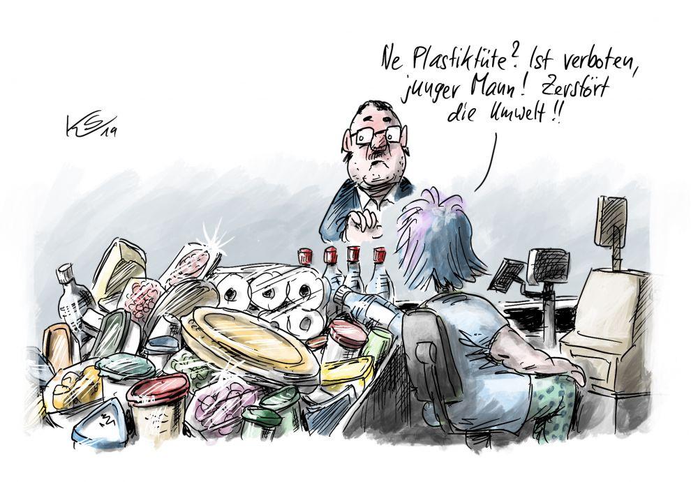Verbotenes Plastik