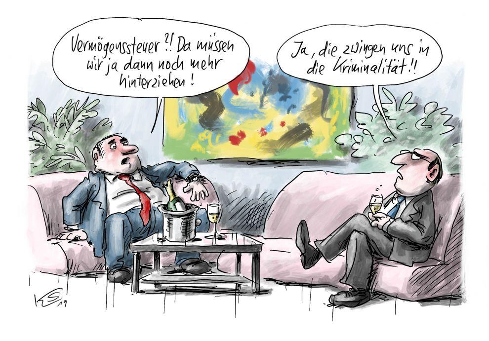 Vermögenssteuer in Deutschland zwingt Reiche in Kriminalität