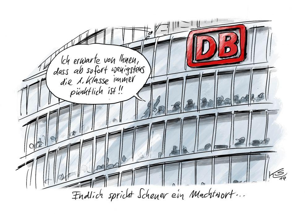 Die Pünktlichkeit der Deutschen Bahn