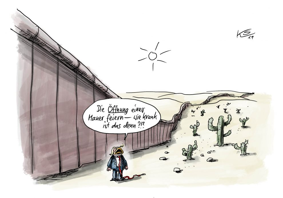 Was Trump von der Berliner Mauer hält