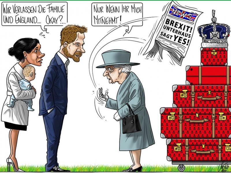 Prinz Harry und Meghan Markle gehen vor dem Brexit